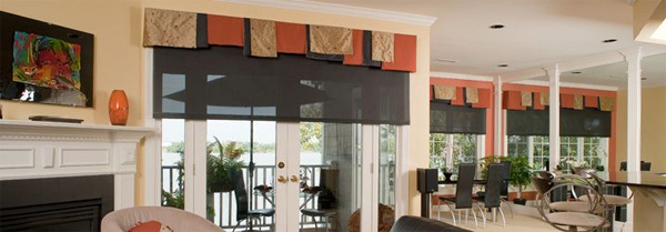 http://www.entechmedia.com Interior Design/Decorating consultation and installation. Motorized shades, drapes and screens.